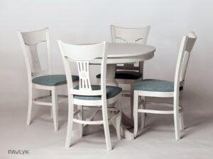 AMPHORA Стіл на одній ніжці + SELINA стілець