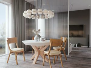 NOVA BETON table + DIRAN chair (SET)